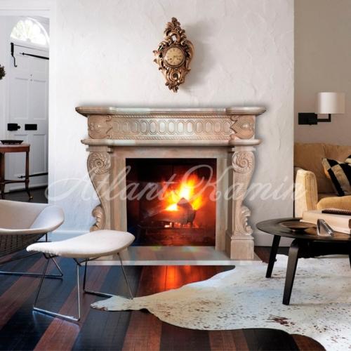 Мраморный камин Ариано