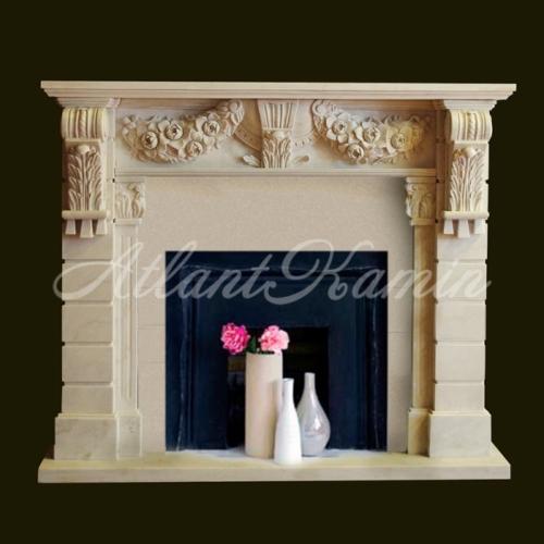 Мраморный камин Desert Rose